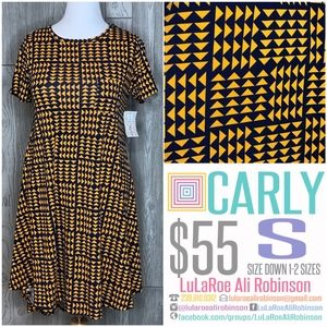 LuLaRoe Carly - Size S - Blue & Yellow  - NWT